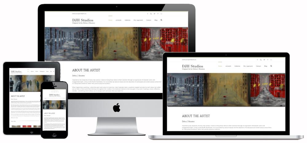 Artist Portfolio Website Blue Mar Web Design And Development