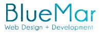 Blue Mar Web Design and Development Logo