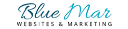 Blue Mar Web Design and Marketing Logo